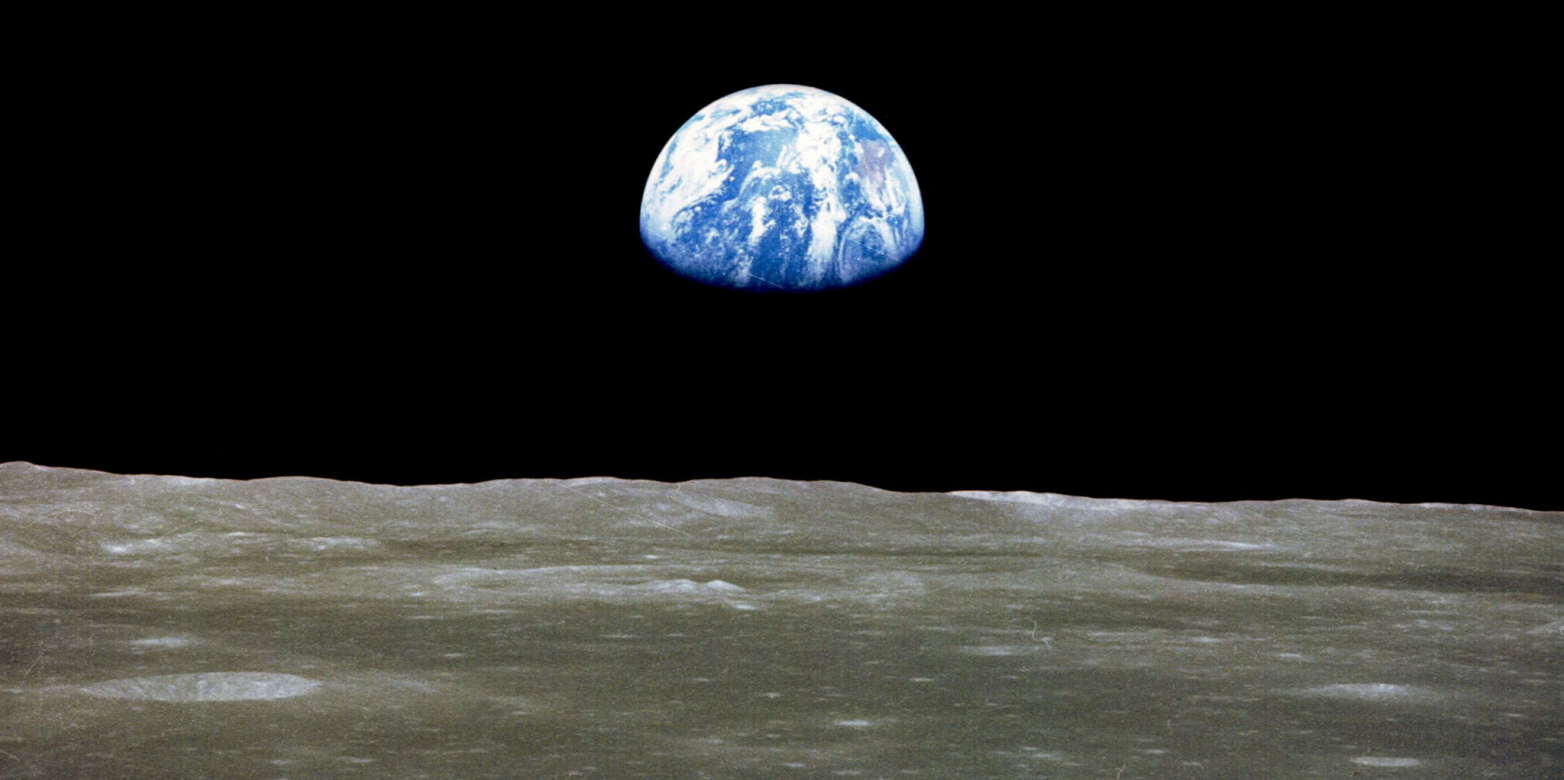 The Earth seen from the Moon (NASA)
